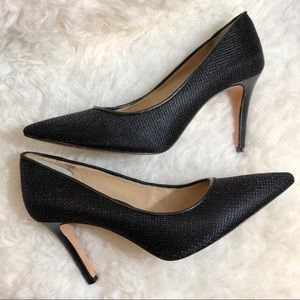 Antonio Melani Black Shimmer Pumps